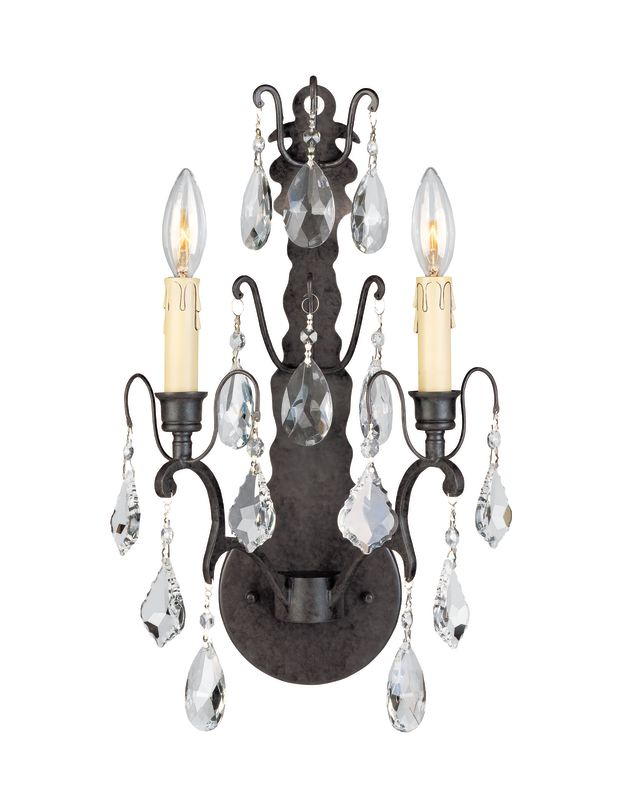 World Imports WI9602 Crystal Up Lighting Wall Sconce from the Timeless