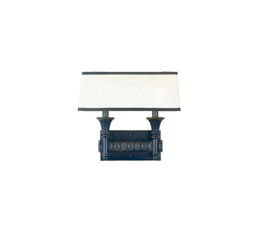 World Imports WI236247 Manhattan 2 Light Double Wall Sconce Oil Rubbed