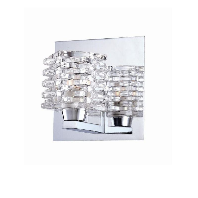 World Imports WI25722 Lenza 1 Light Bathroom Sconce Chrome Indoor