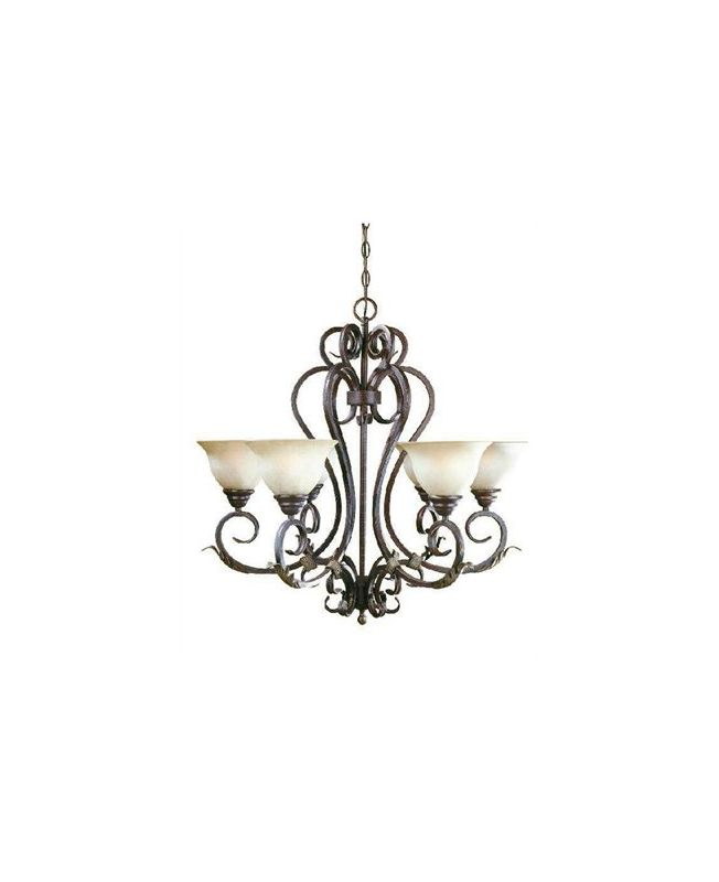 World Imports WI262424 Olympus Tradition 6 Light 1 Tier Chandelier