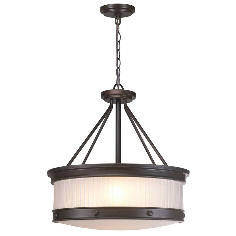 World Imports WI60989 Nikolai 3 Light Pendant Oil Rubbed Bronze Indoor