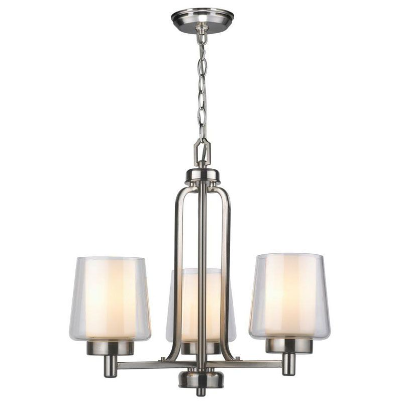 World Imports WI60993 Renee 3 Light Chandelier Brushed Nickel Indoor Sale $341.28 ITEM: bci2405496 ID#:WI60993 UPC: 8938900225 :