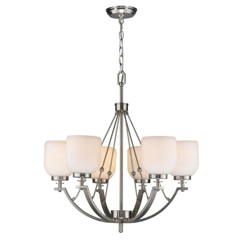 World Imports WI61001 Bailie 6 Light Chandelier Brushed Nickel Indoor Sale $422.19 ITEM: bci2405202 ID#:WI61001 UPC: 8938900362 :