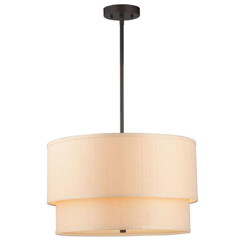 World Imports WI61012 Kole 3 Light Pendant Oil Rubbed Bronze Indoor