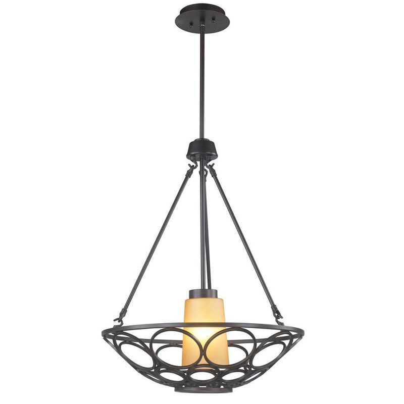 World Imports WI61021 Katherine 1 Light Pendant Oil Rubbed Bronze