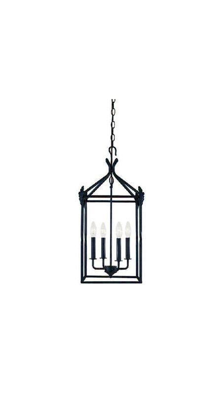 World Imports WI6140442 Hastings 4 Light Lantern Pendant Rust Indoor
