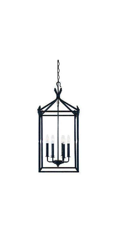 World Imports WI6140542 Hastings 6 Light Lantern Pendant Rust Indoor