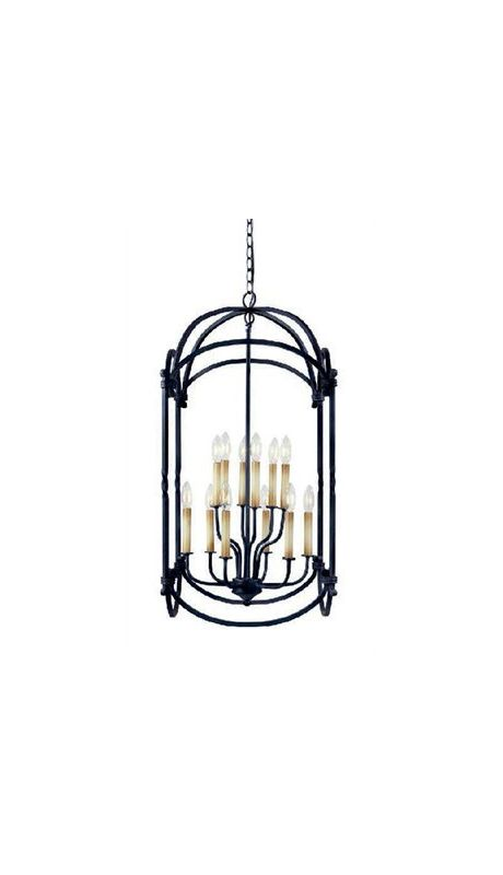 World Imports WI6140742 Hastings 12 Light Large Pendant Rust Indoor