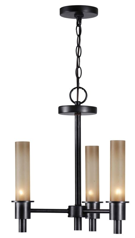 World Imports WI687288 Dunwoody 3 Light Chandelier Oil Rubbed Bronze