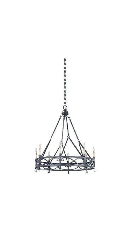 World Imports WI8001885 Chaumont 8 Light 1 Tier Chandelier Textured