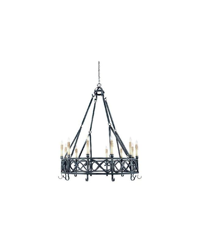 World Imports WI8001985 Chaumont 12 Light 1 Tier Chandelier Textured
