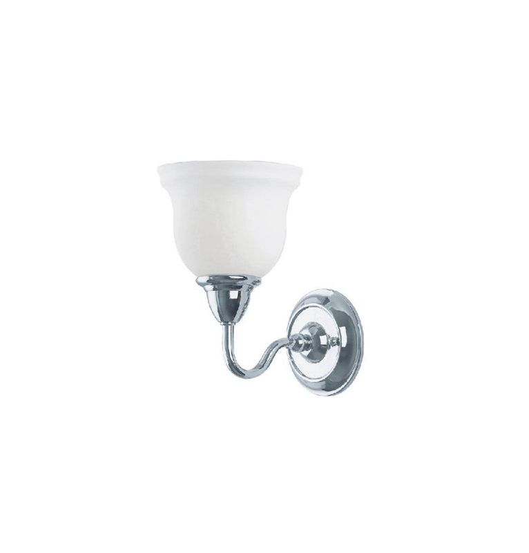 World Imports WI838108 Montpellier 1 Light Wall Sconce Chrome Indoor