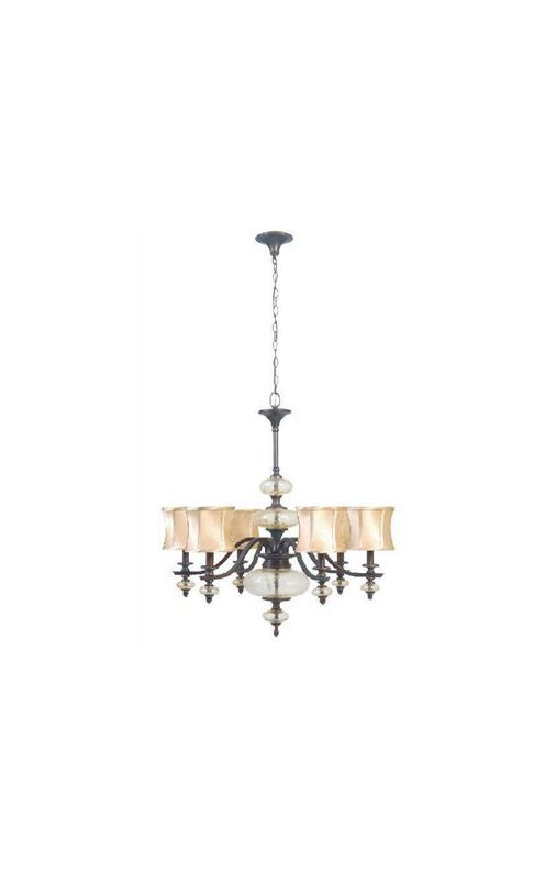 World Imports WI854656 Chambord 8 Light 1 Tier Chandelier Weathered