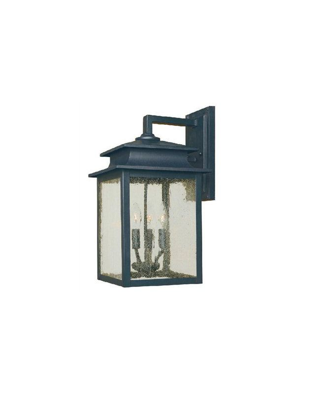 World Imports WI910642 Sutton 3 Light Outdoor Wall Sconce Rust Outdoor