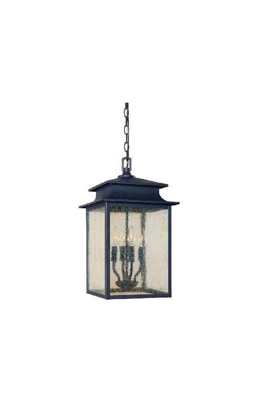 World Imports WI910842 Sutton 4 Light Lantern Pendant Rust Indoor