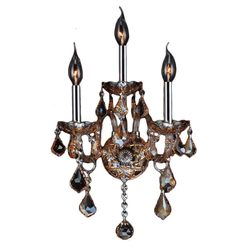 """Worldwide Lighting W2310313 Provence 3 Light 13"""" Wide Wall Sconce with"""