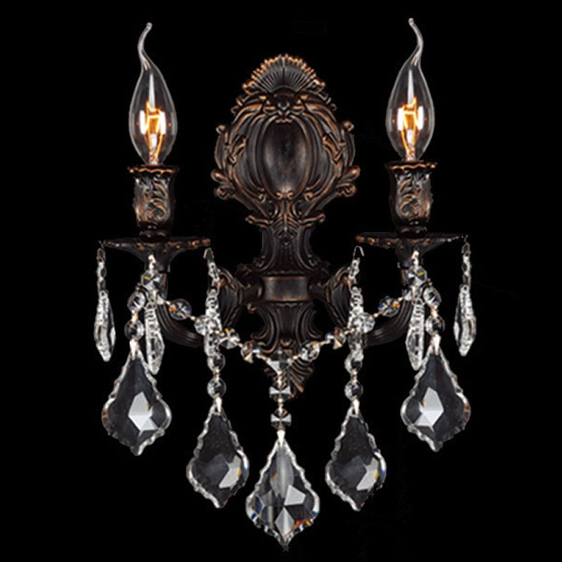 "Worldwide Lighting W23313F12 Versailles 2 Light 12"" Wall Sconce in"