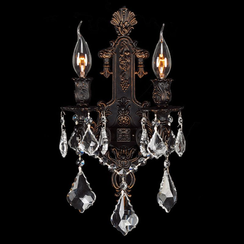 "Worldwide Lighting W23315F12 Versailles 2 Light 12"" Wall Sconce in"