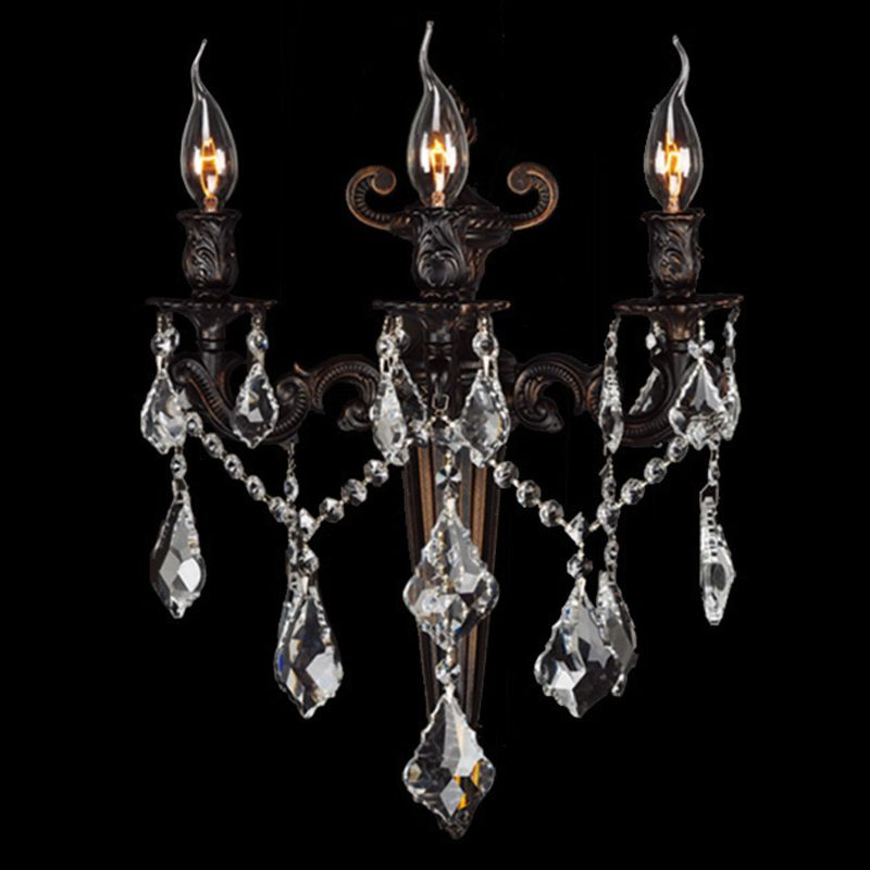 "Worldwide Lighting W23317F15 Versailles 3 Light 15"" Wall Sconce in"
