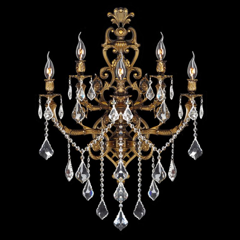 "Worldwide Lighting W23318B19 Versailles 5 Light 19"" Wall Sconce in"