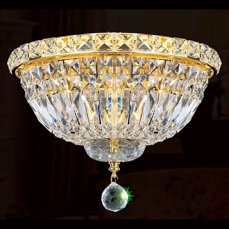 "Worldwide Lighting W33008G12 Empire 4 Light 12"" Flush Mount Ceiling"