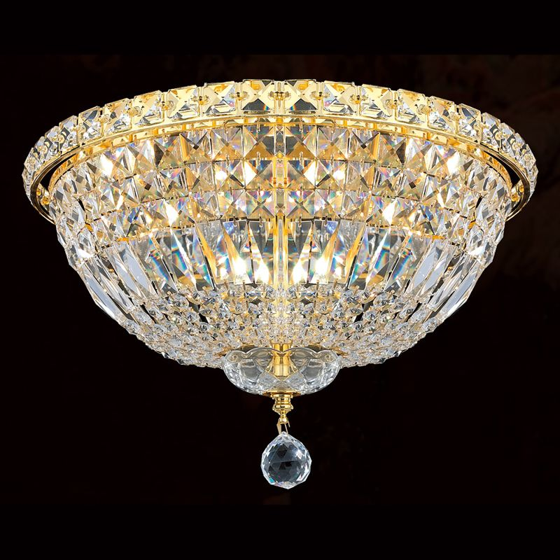 Worldwide Lighting W33008G16 Empire 4 Light 16&quote Flush Mount Ceiling