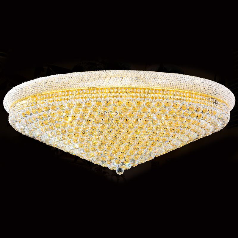 "Worldwide Lighting W33011G48 Empire 33 Light 48"" Flush Mount Ceiling"