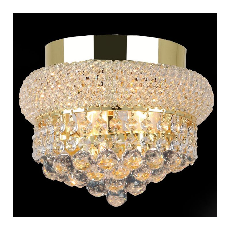 "Worldwide Lighting W33011G8 Empire 3 Light 8"" Flush Mount Ceiling"