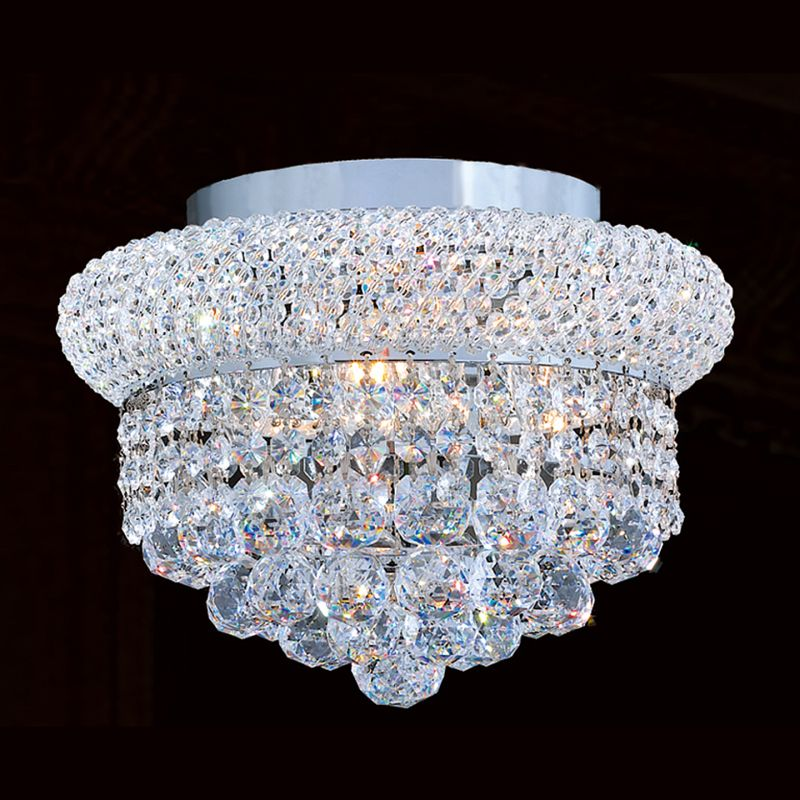 "Worldwide Lighting W33019C12 Empire 4 Light 12"" Flush Mount Ceiling"