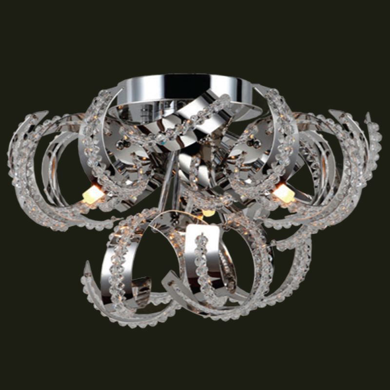 "Worldwide Lighting W33112C12 Medusa 9 Light 12"" Flush Mount Ceiling"