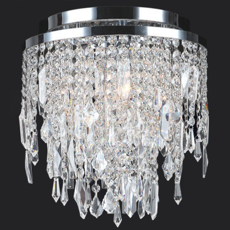 "Worldwide Lighting W33125C12 Tempest 4 Light 12"" Flush Mount Ceiling"