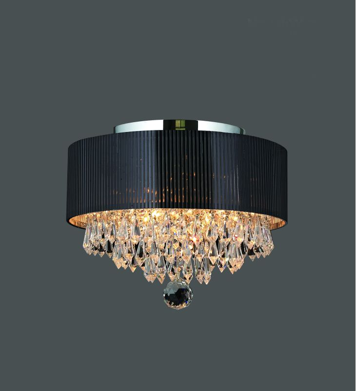 "Worldwide Lighting W33137C12 Gatsby 3 Light 12"" Flush Mount Ceiling"