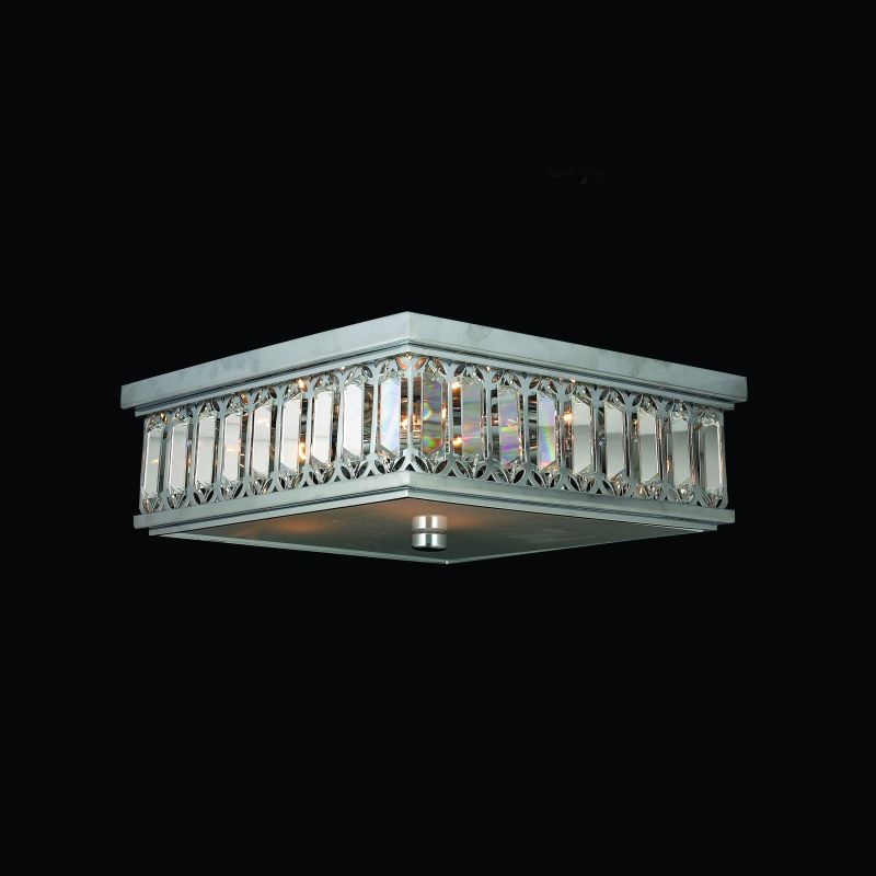 "Worldwide Lighting W33140C14 Athens 6 Light 14"" Wide Flush Mount"