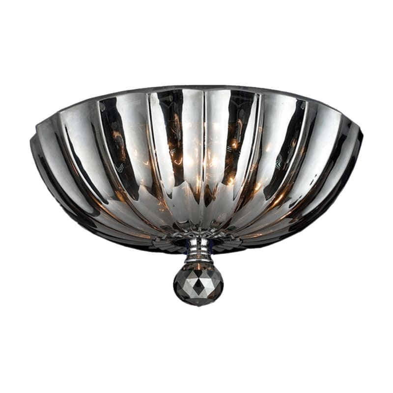 "Worldwide Lighting W3314112 Mansfield 3 Light 12"" Wide Flush Mount Sale $158.00 ITEM: bci2992652 ID#:W33141C12-SM UPC: 853742003774 :"