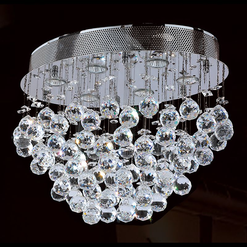 "Worldwide Lighting W33232C20 Icicle 6 Light 20"" Wide Flush Mount"