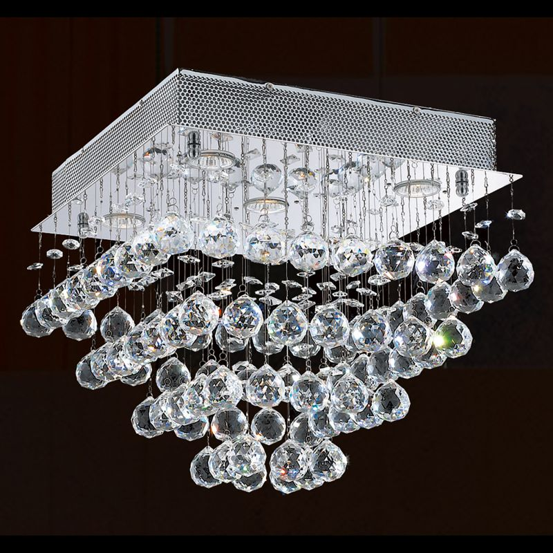 "Worldwide Lighting W33243C16 Icicle 5 Light 16"" Wide Flush Mount"