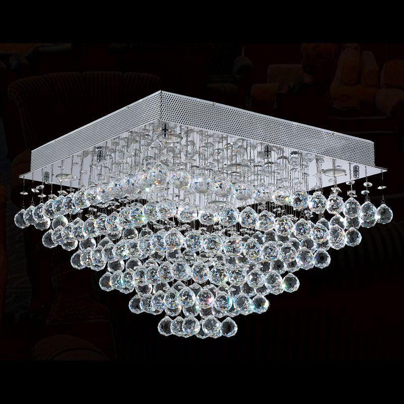 Worldwide Lighting W33245C24 Icicle 8 Light Flush Mount Ceiling