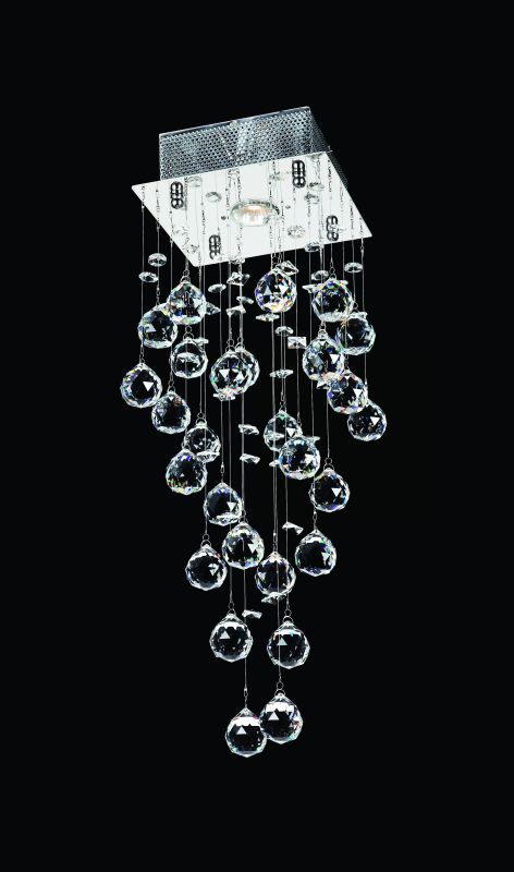 "Worldwide Lighting W33259C8 Icicle 1 Light 8"" Wide Flush Mount Ceiling"