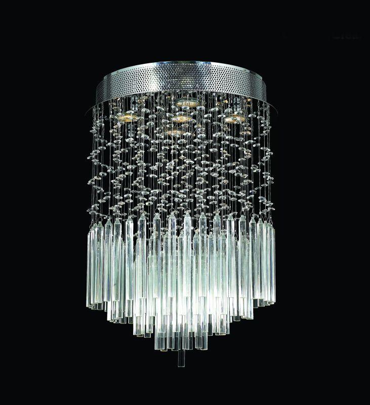 """Worldwide Lighting W33260C16-CL Torrent 5 Light 16"""" Flush Mount"""