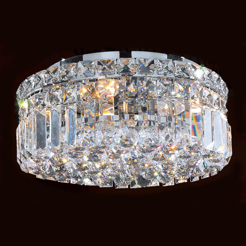 "Worldwide Lighting W33505C12 Cascade 4 Light 12"" Flush Mount Ceiling"