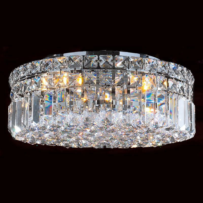 "Worldwide Lighting W33506C14 Cascade 4 Light 14"" Flush Mount Ceiling"