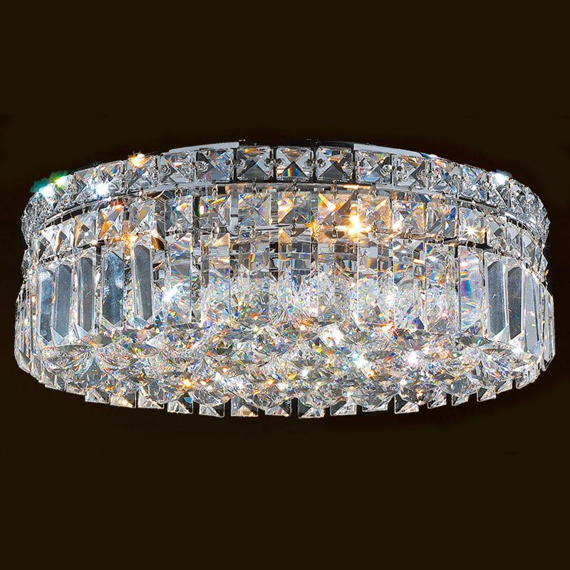 "Worldwide Lighting W33507C16 Cascade 5 Light 16"" Flush Mount Ceiling"