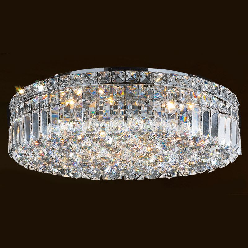 "Worldwide Lighting W33508C20 Cascade 6 Light 20"" Flush Mount Ceiling"