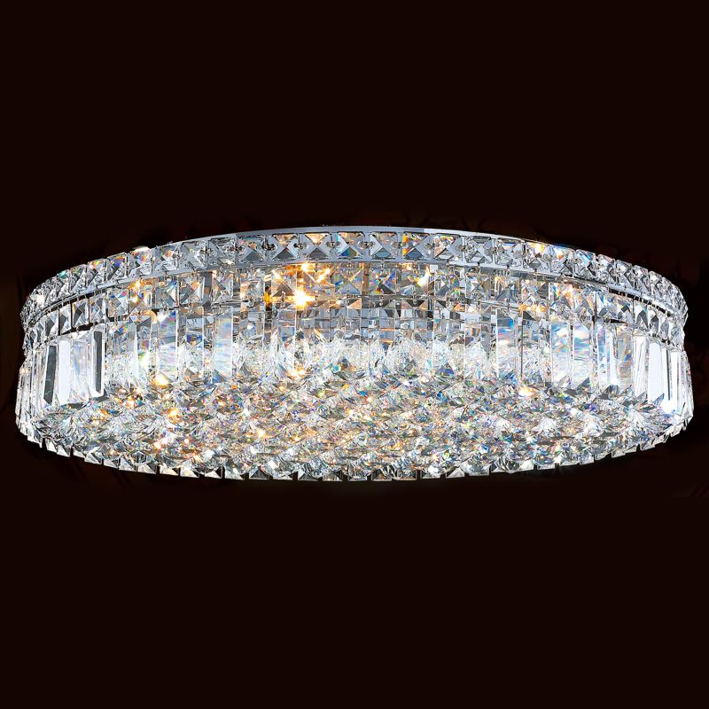 "Worldwide Lighting W33509C24 Cascade 9 Light 24"" Flush Mount Ceiling"