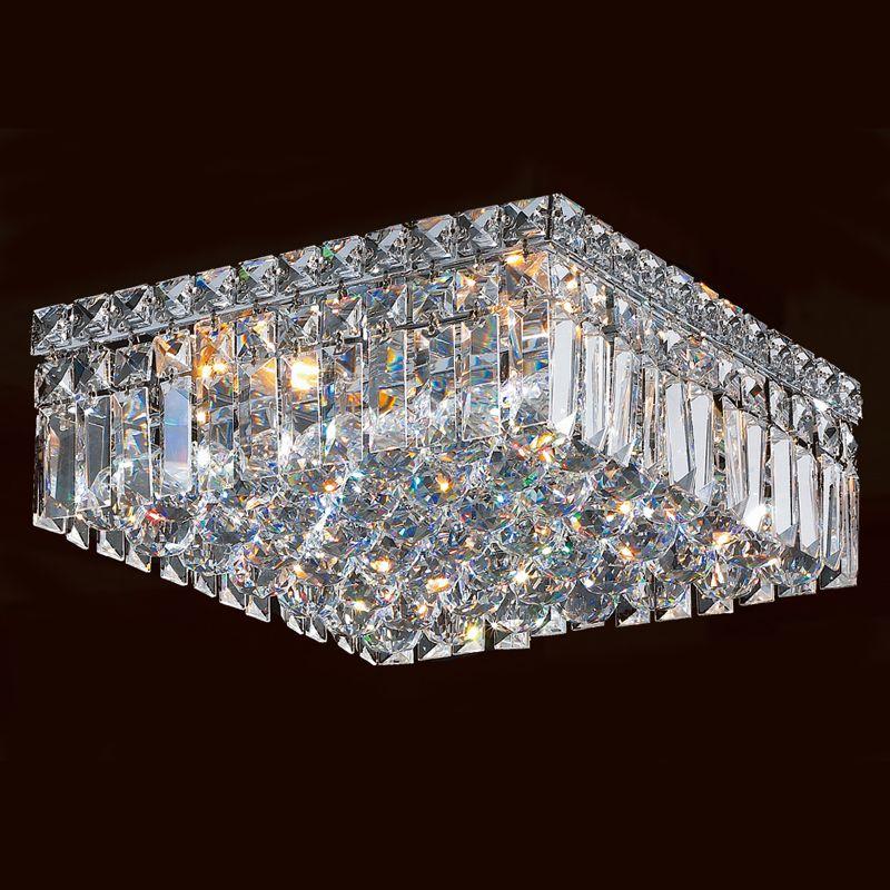 "Worldwide Lighting W33516C12 Cascade 4 Light 12"" Wide Flush Mount"