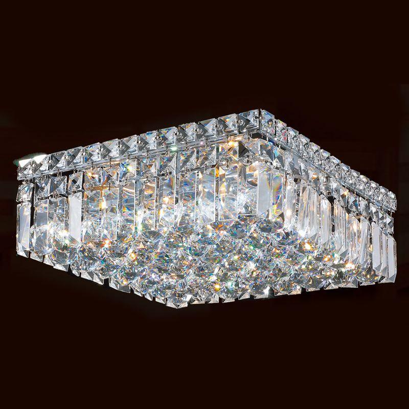 "Worldwide Lighting W33517C14 Cascade 5 Light 14"" Wide Flush Mount"