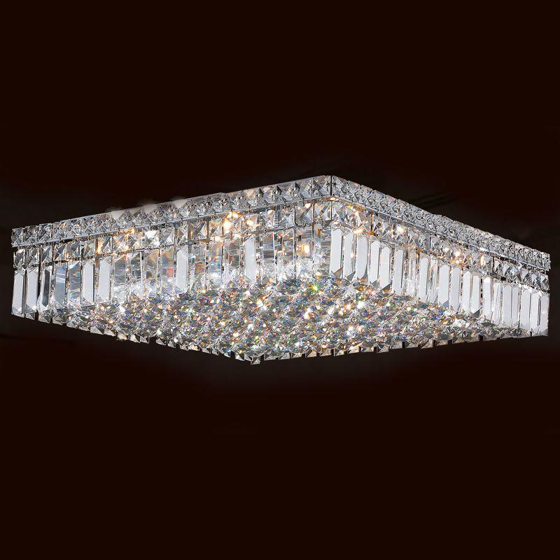 "Worldwide Lighting W33519C20 Cascade 12 Light 20"" Wide Flush Mount"