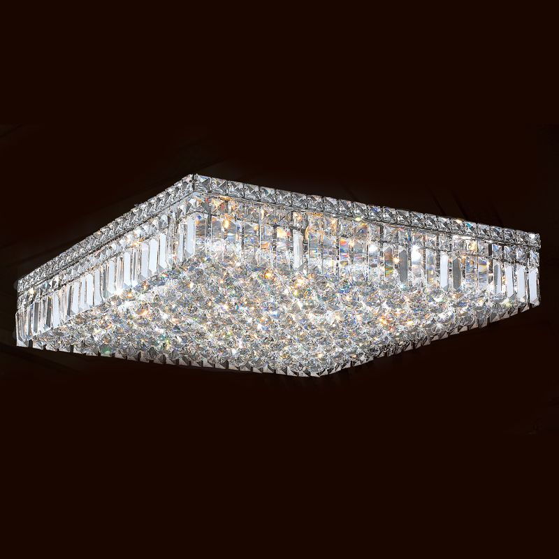 "Worldwide Lighting W33520C24 Cascade 13 Light 24"" Wide Flush Mount"