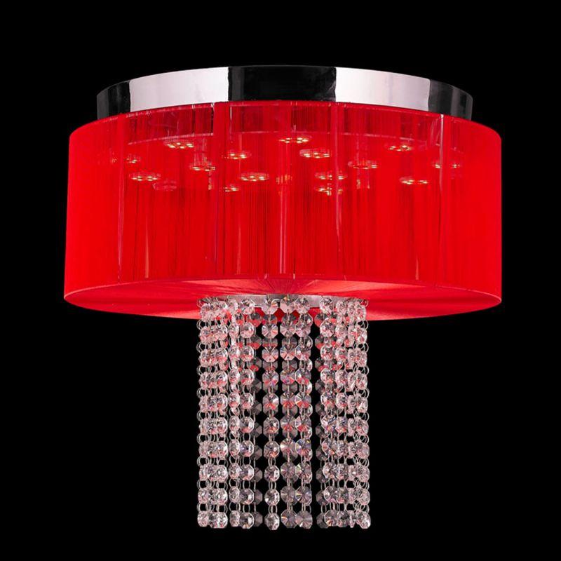 Worldwide Lighting W33954C16-RD Alice 6 Light LED Flush Mount Ceiling