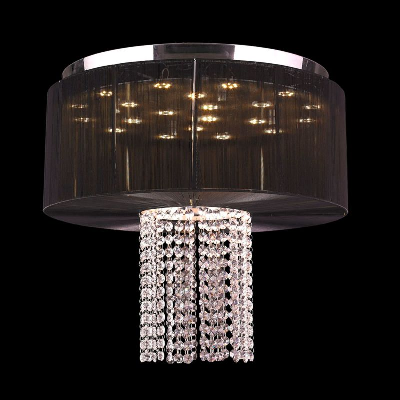 Worldwide Lighting W33954C20-BK Alice 9 Light LED Flush Mount Ceiling